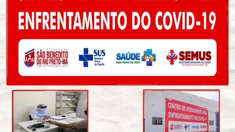 A Prefeitura Municipal de São Benedito do Rio Preto, cria o Centro de Atendimento para o Enfrentamento do Covid-19 no Município.