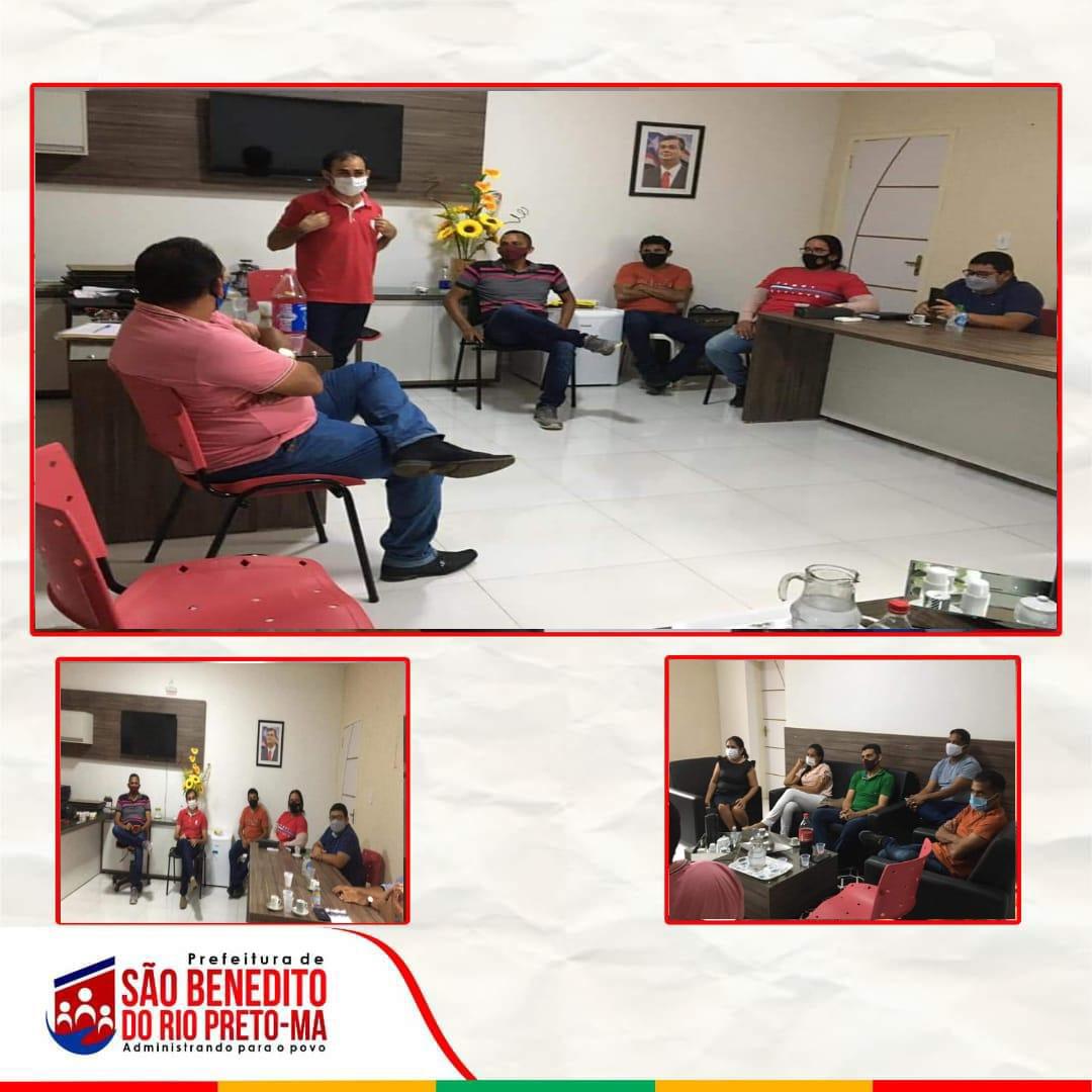 Poderes Executivo e Legislativo se reúnem para discutir medidas de combate à COVID 19 em São Benedito do Rio Preto