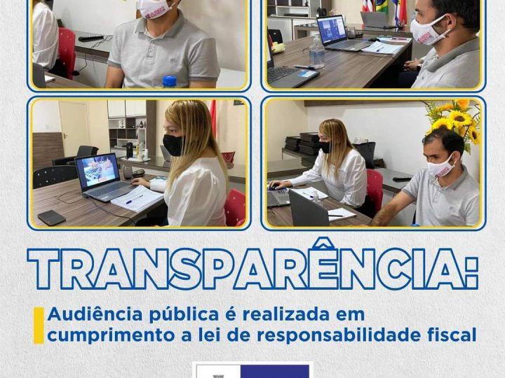 TRANSPARÊNCIA: Audiência pública é realizada em cumprimento a lei de responsabilidade fiscal.