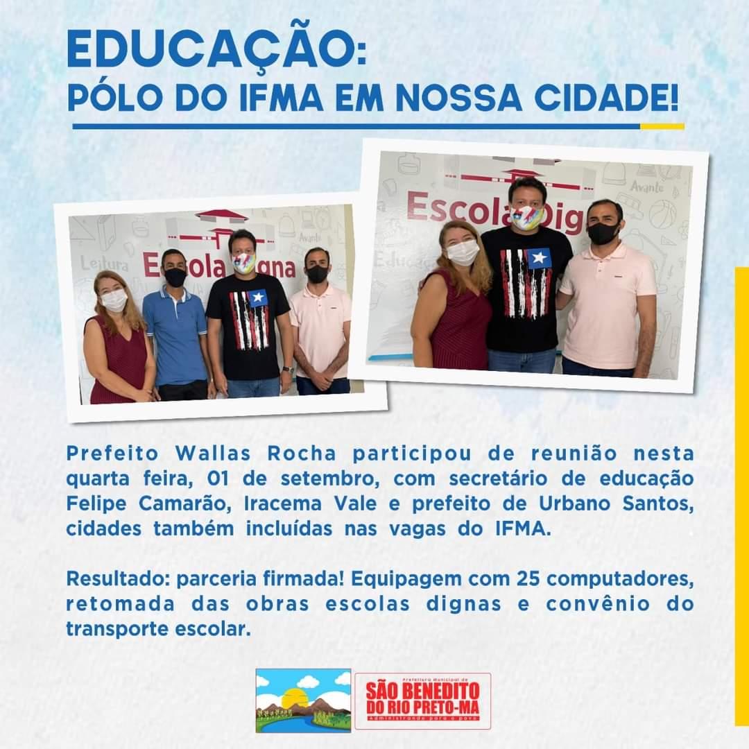 EDUCAÇÃO: Polo do IFMA em nossa cidade!